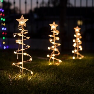 Christmas Spiral Tree Decor with Lights