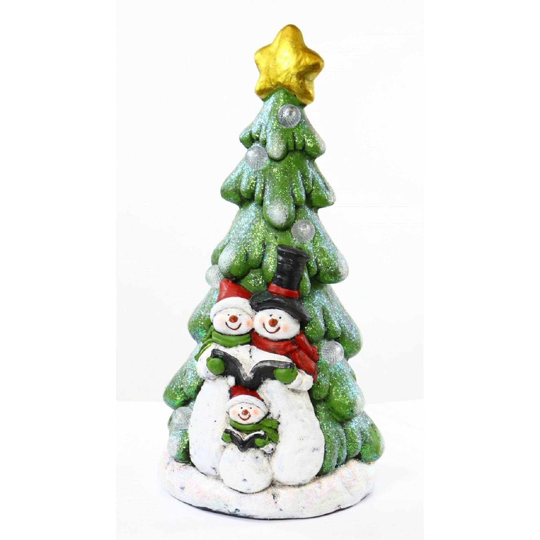 Alpine Corporation Snowman under Christmas Tree with LED ...