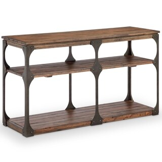 Magnussen Home Furnishings Montgomery Industrial Reclaimed Wood Entryway Table
