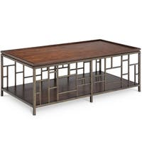 Murdock Modern Cocktail Table with Removable Serving Trays
