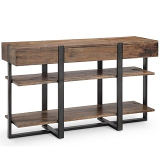 Magnussen Home Furnishings Prescott Rustic Honey Reclaimed Wood Console Table