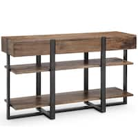 Prescott Modern Reclaimed Wood in Rustic Honey Console Table
