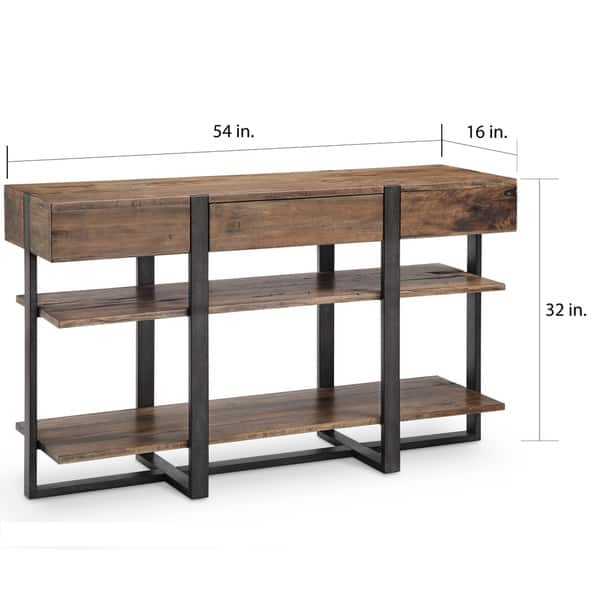 Shop Prescott Modern Reclaimed Wood in Rustic Honey Console ...