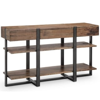Prescott Modern Reclaimed Wood in Rustic Honey Console Table