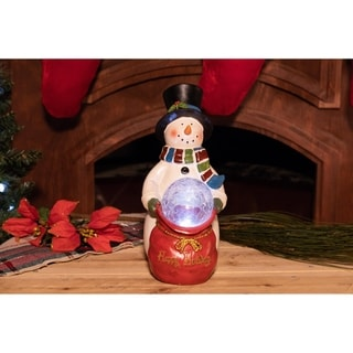 Christmas Snowman Statue with LED Lights - TM