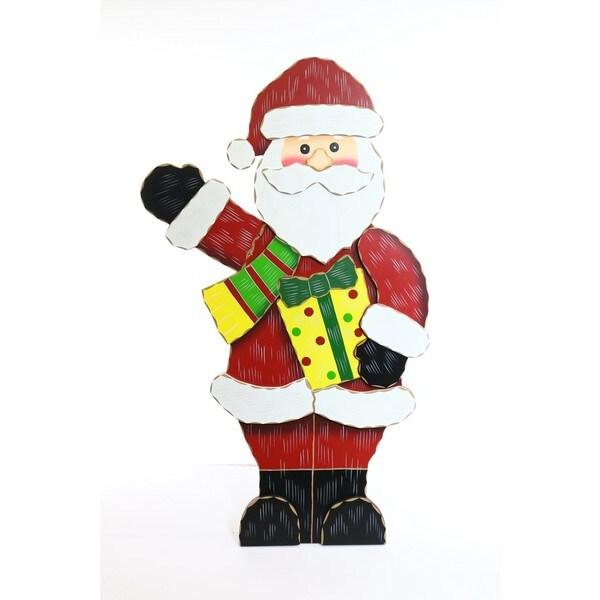 """36"""" Wooden Christmas Santa Decor"""