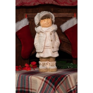 Christmas Girl with Hands in Her Pocket Statue