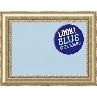 Framed Blue Cork Board, Astoria Champagne
