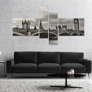 Designart 'Wonderful View of Westminster Bridge' Cityscape Canvas Art Print