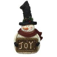 Christmas Snowman with Joy Sign Light Up Statue Decor-TM