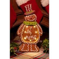 Christmas Gingerbread Man Light Up Statue Decor- TM