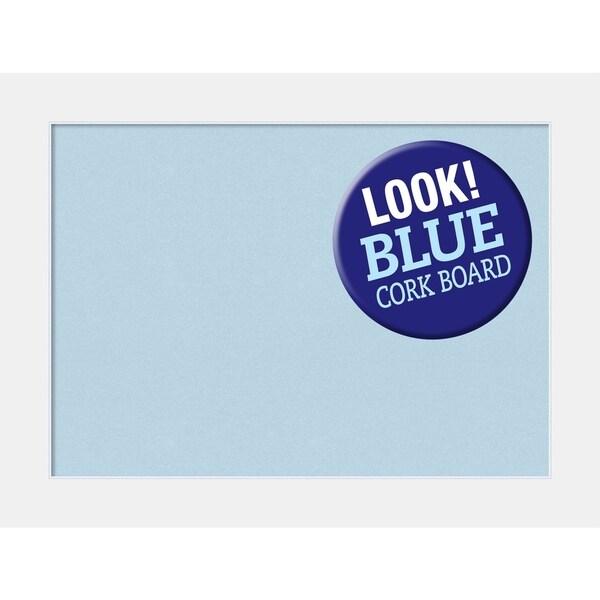 Framed Blue Cork Board, Corvino White
