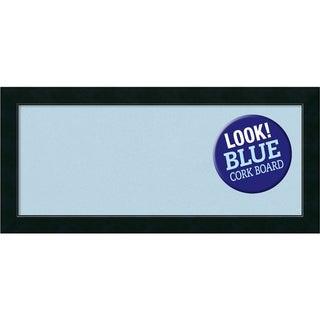 Framed Blue Cork Board, Corvino Black