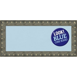 Framed Blue Cork Board, Barcelona Champagne