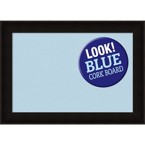 Framed Blue Cork Board, Manteaux Black