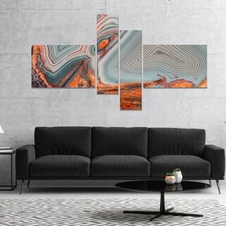DesignArt 'Beautiful Lake Superior Agate' Abstract Canvas Art Print