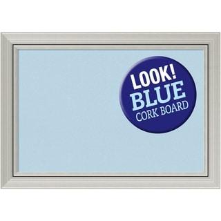 Framed Blue Cork Board, Romano Silver