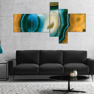 Designart 'Colorful Agate Pattern' Abstract Canvas Wall Art Print