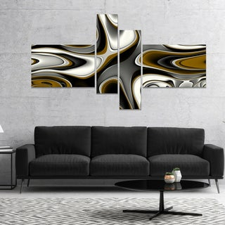 Designart 'Fantastic Fractal Abstract Pattern' Large Abstract Canvas Artwork