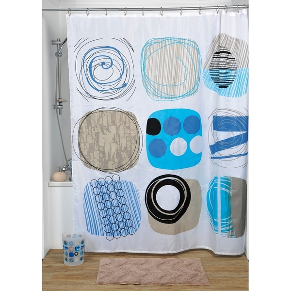 Evideco Printed Fabric Shower Curtain Street Art Polyester