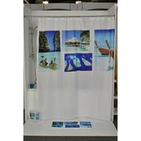 Evideco Printed Fabric Shower Curtain Paradise Polyester