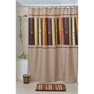 Evideco Printed Fabric Shower Curtain Java Polyester