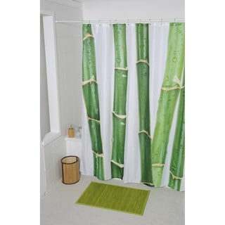 Evideco Bathroom Printed Shower Curtain Ecobio Polyester
