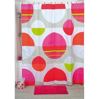 Evideco Printed Fabric Shower Curtain Eclats Polyester