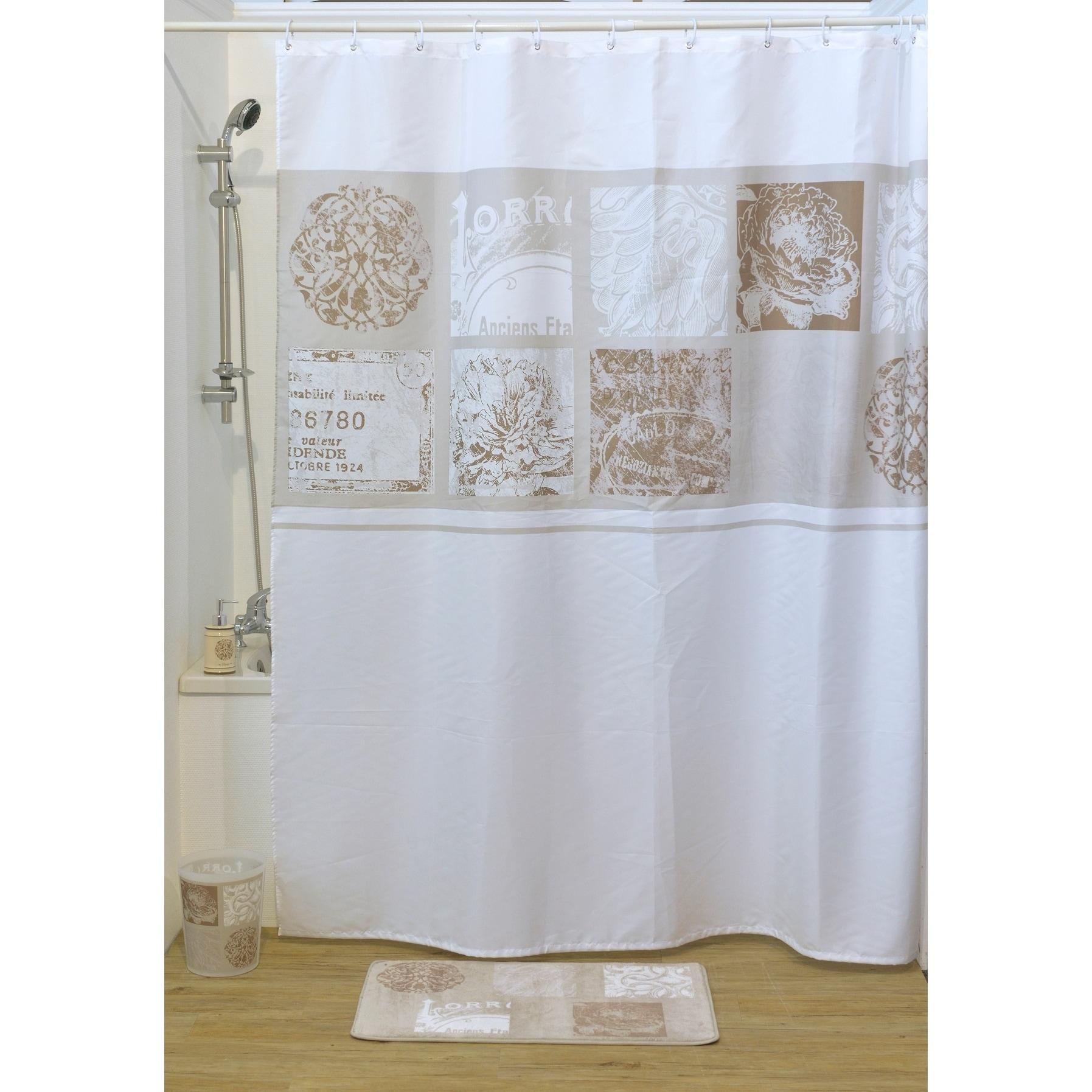 Evideco Fabric Shower Curtain Paris Romance Polyester