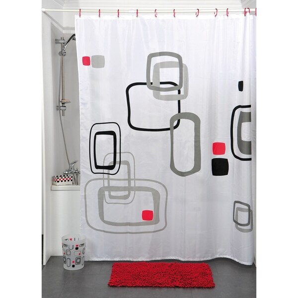 Evideco Printed Fabric Shower Curtain Paloma Polyester