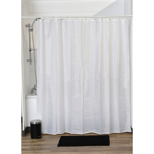 Evideco Fabric Shower Curtain Lux Polyester Rhinestone