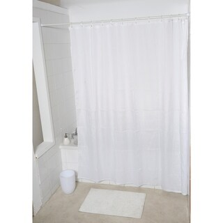 Evideco Fabric Polyester Shower Curtain Wrinkled