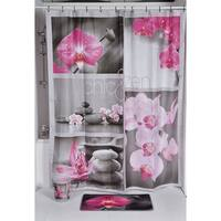 Evideco Printed Fabric Shower Curtain Chic and Zen Polyester