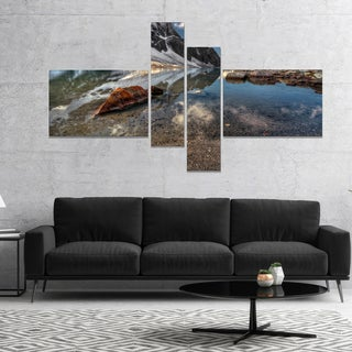 Designart 'Sapphire Mountain Lake View' Landscape Canvas Art Print