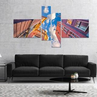 Designart 'Authentic Dutch Architecture' Extra Large Canvas Art Print