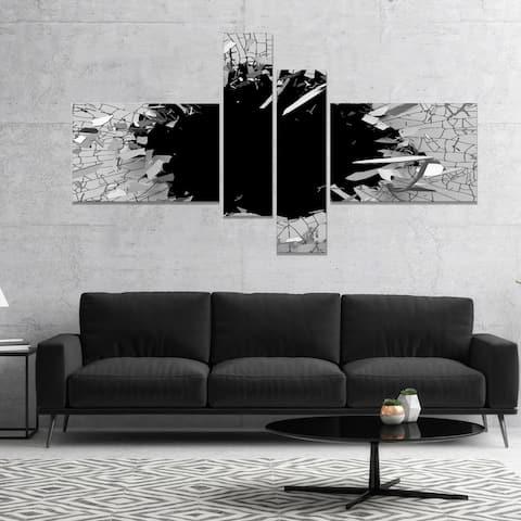Strick & Bolton 'Abstract Broken Wall 3D Design' Canvas Wall Art