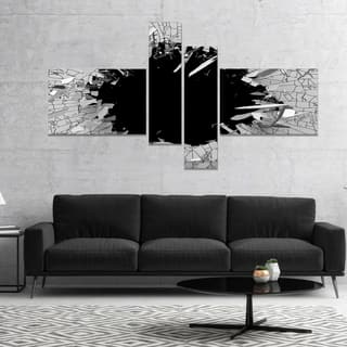 Strick & Bolton 'Abstract Broken Wall 3D Design' Canvas Wall Art