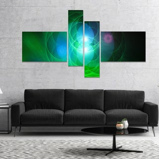 Designart 'Merge Colored Spheres.' Contemporary Canvas Artwork Print
