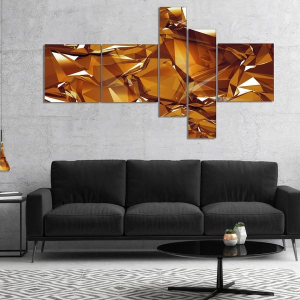 Home Design 3d Gold Icloud: Shop Designart '3D Gold Crystal Background' Abstract