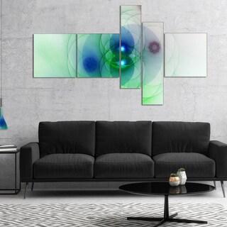 Designart 'Merge Colored Spheres.' Abstract Canvas Artwork Print