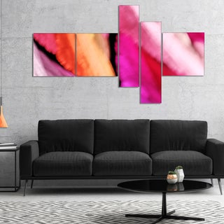 Designart 'Red Vibrant Brushstrokes' Abstract Canvas Art Print
