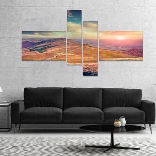 Designart 'Amazing Autumn Landscape in Hills' Large Landscape Canvas Art Print