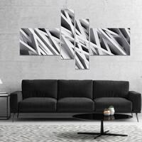 Designart 'White Geometric' Abstract Canvas Art Print