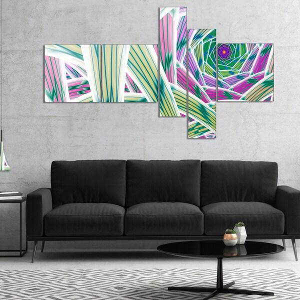 Designart 'Purple Fractal Endless Tunnel' Abstract Canvas Art Print