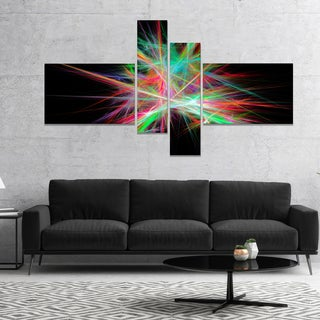 Designart 'Green Red Spectrum of Light' Abstract Canvas Art Print