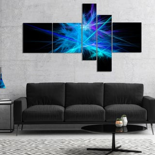 Designart 'Clear Blue Spectrum of Light' Abstract Canvas Art Print