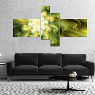 Designart 'Dance of Yellow Fractal Petals' Floral Canvas Art Print