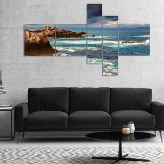 Designart 'Volcanic Beach Stormy Weather' Seashore Canvas Art Print (2 options available)