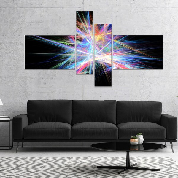 Designart 'Light Blue Spectrum of Light' Abstract Canvas Art Print