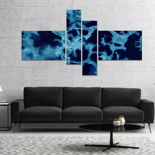 Designart 'Cloudy Abstract Blue Texture' Abstract Canvas Art Print